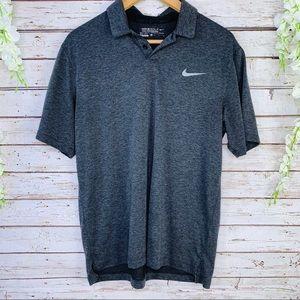 Nike golf | Dri-fit heather grey collared Shirt